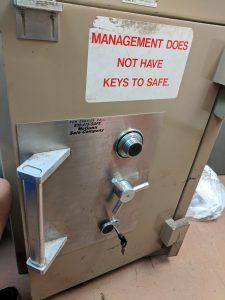 Sagging Hinges on safe